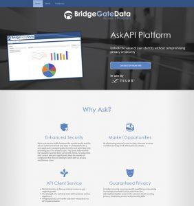 Full screenshot of a startup website design