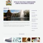 Full screenshot of the government website design and layout