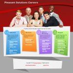 Sample web design for job posting landing page