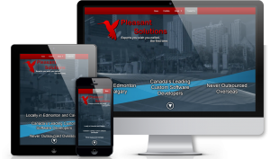 Engaging landing page example shown on multiple screen sizes