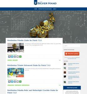A closer screenshot of the blogger site design